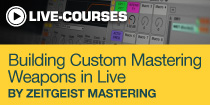 Building Custom Mastering Weapons in Live